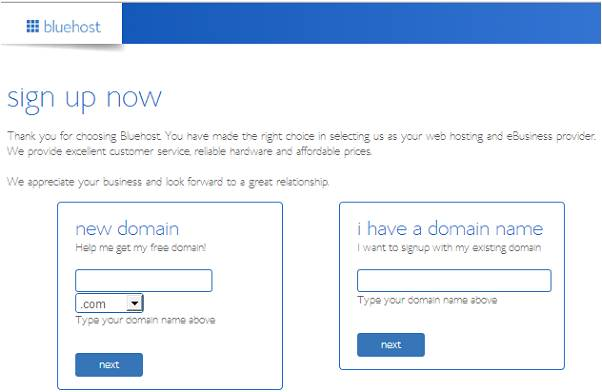 bluehost coupon step 3