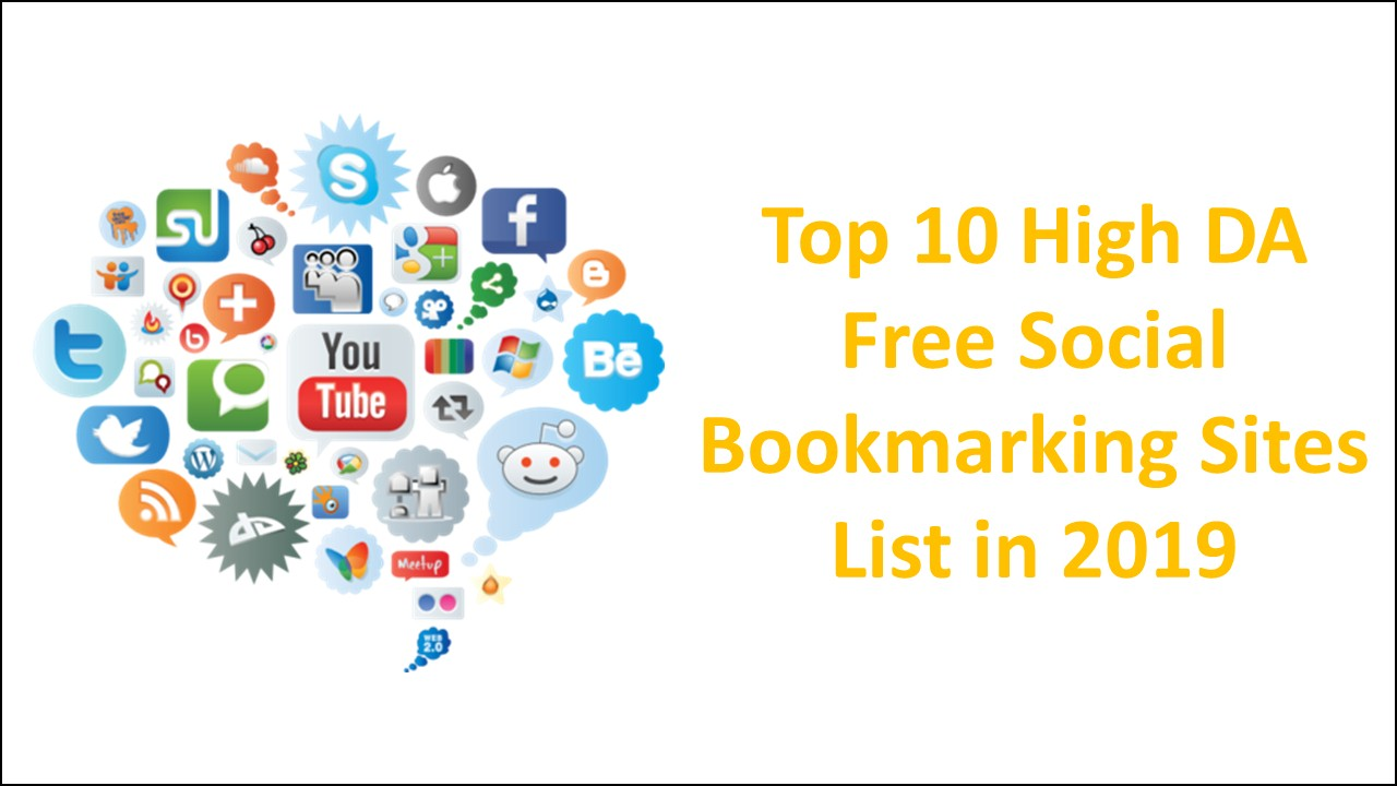 Free Social Bookmarking Sites List in 2019