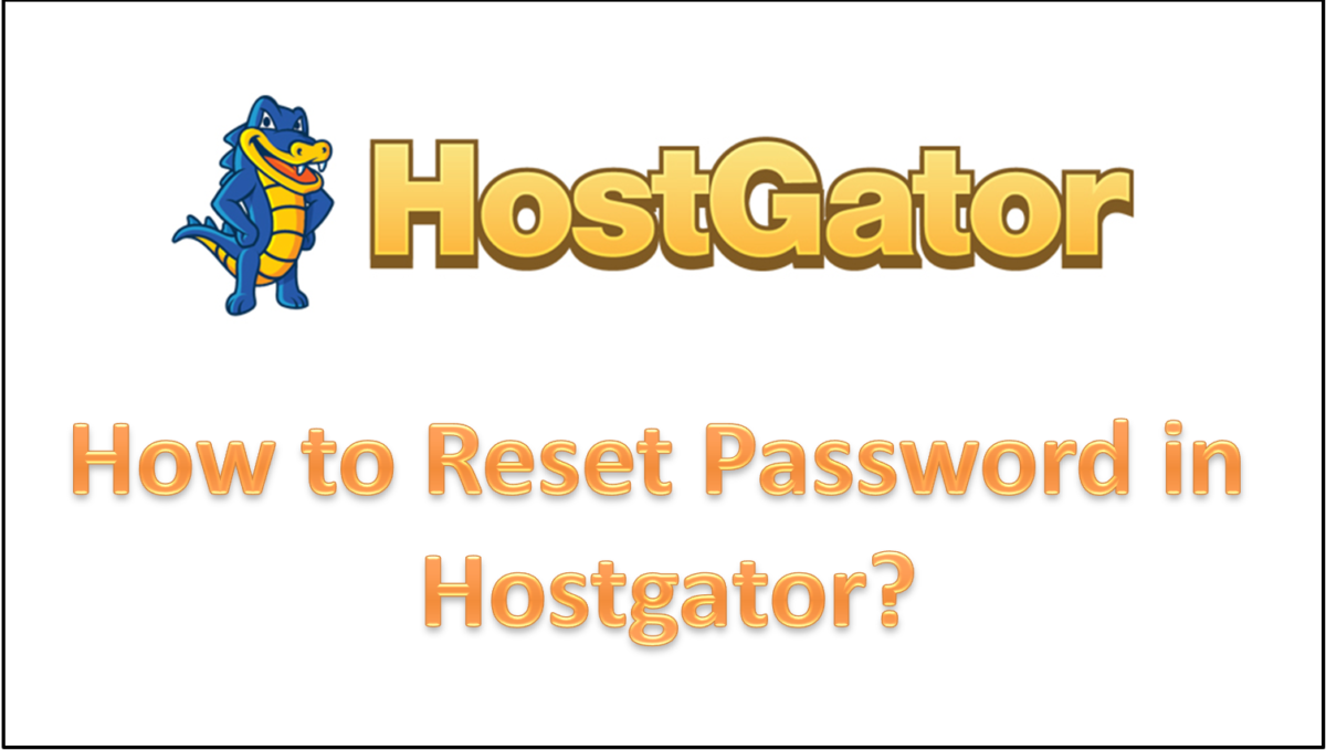 How to Reset Password in Hostgator?